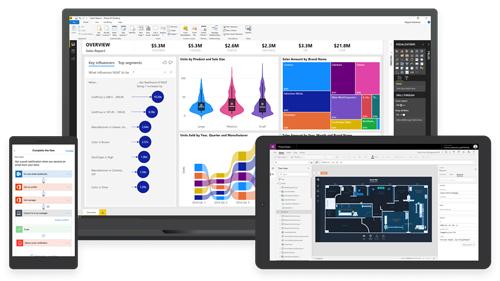 Dynamics 365 - mange muligheder for visning på mobil, tablet og PC med Power BI