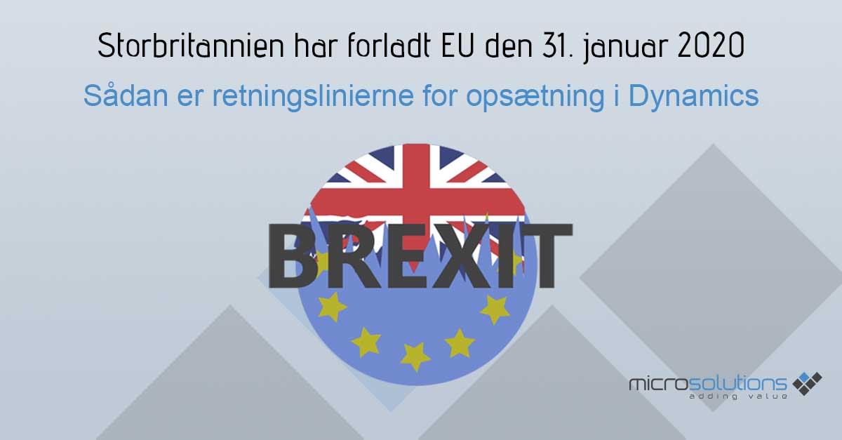 Opsætning af Dynamics til Brexit